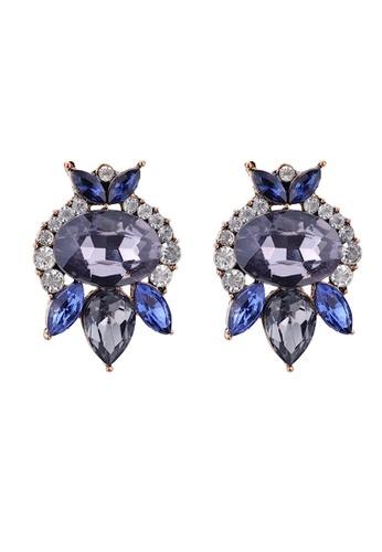 Glamorbit purple Rhinestone Purple Dangle Statement Earrings 0D4F1AC34341FFGS_1