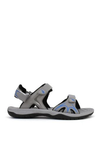 World Balance grey Everglade Mens Sports Sandals 61F27SH48A1E26GS_1