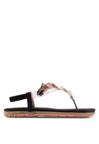 St3p black Embellished Sandals ST395SH43NRKMY_1
