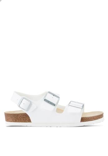 Birkenstock white Milano BF Sandals BI090SH02OBLMY_1