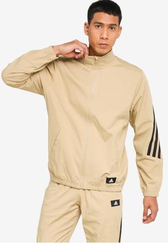 ADIDAS beige sportswear future icons woven track jacket C0CD4AA7727E5EGS_1
