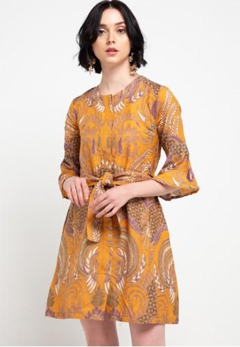 Batik Putra Bengawan yellow Dress Db P Cafiya 554C1AA52BF2D1GS_1