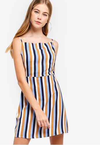 Something Borrowed multi Cross Back Mini Dress 1DE76AA895B615GS_1