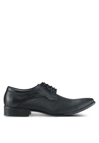 Bata black Textured Dress Shoes 00B6CSHDF76A03GS_1