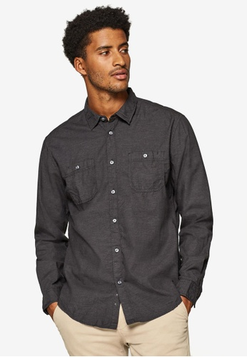 ESPRIT 灰色 長袖襯衫 29E94AAD61CC7CGS_1