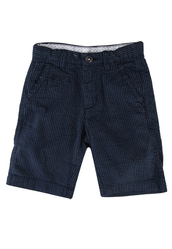 OVS navy Striped Chino Bermuda Shorts 7A927KA1E02820GS_1