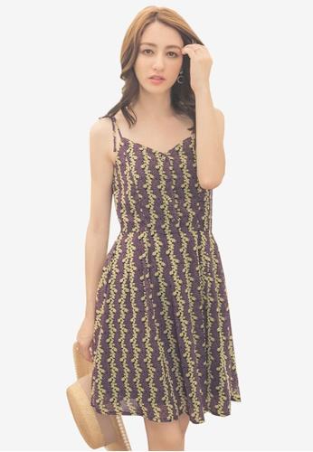 Yoco purple Floral Camisole Dress 7B1D3AA2AA49E7GS_1