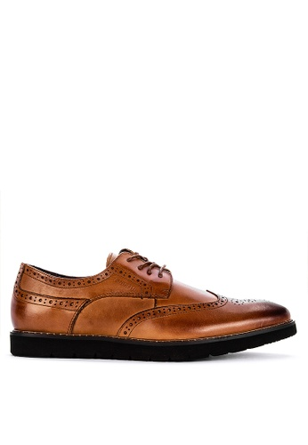 Alberto brown Formal Wingtip Oxford Shoes 30288SH0438B8EGS_1