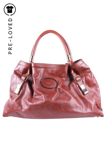 Chloé brown Pre-Loved chloé Brown Leather Shoulder Bag 09416AC68F9462GS_1