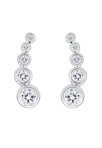 Elli Germany silver Elli Germany Circle Swarovski® Crystals 925 Silver Ear Cuff EL474AC0S1ZXMY_1