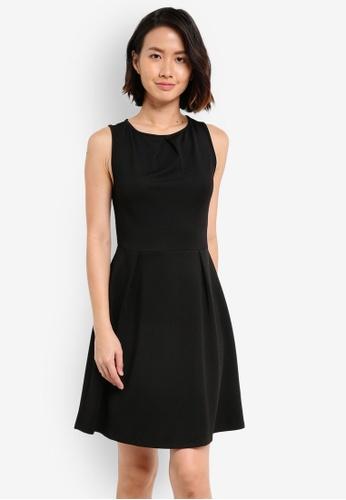 ZALORA black Essential Pleat Detail Dress BCB9EAA720AC5DGS_1