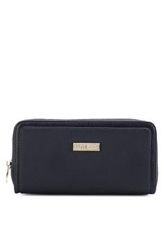 Toning Duo-Texture Ladies Zip-Up Wallet
