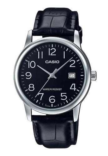 Casio black Casio Jam Tangan MTP-V002L-1BUDF Hitam 4D329AC7B1BA6EGS_1