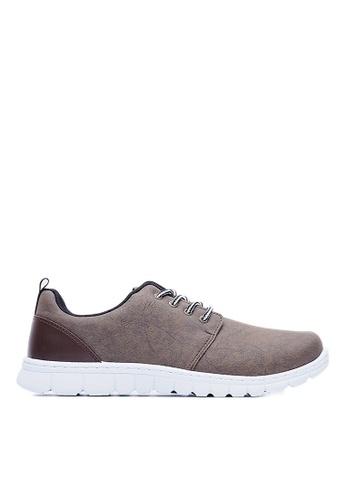 Life8 brown Elastic Space Sport Shoes-09482-Brown LI283SH80GLRSG_1