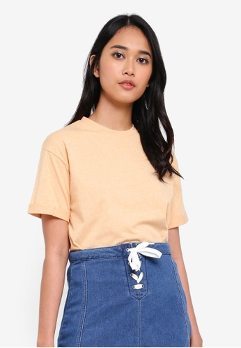 Penshoppe yellow The Dress Code Boxy Tee F2DDDAA19C09DCGS_1