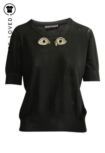 Rochas black Pre-Loved rochas Eyes Top F6273AAFCB5379GS_1