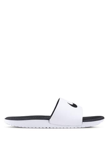 Nike black and white Men's Nike Kawa Slide Sandals C6480SH164ADABGS_1