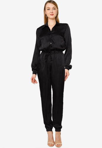 MISSGUIDED black Tall Utility Style Jumpsuit BB77EAA97B0175GS_1