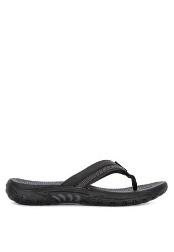 Skechers black Reggae Cobano Thong Sandals 73D78SH65E146DGS_1