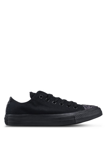Converse black Chuck Taylor All Star Sugar Charms Ox Sneakers 738A5SHB58C7E8GS_1