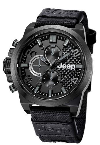 Jeep Wrangler Series JPW60902 Chronograph Watch Black Nylon Canvas