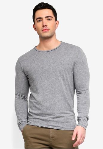 OVS grey Long Sleeve Stretch T-Shirt A7524AAAD619F9GS_1