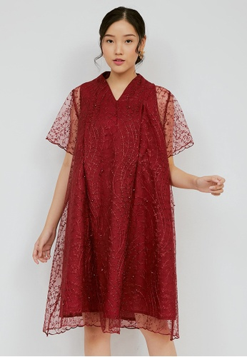 Chantilly red Chantilly Maternity / Nursing Dress 21973AA6B12F16GS_1
