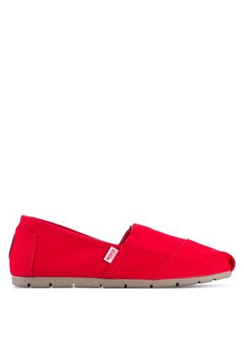 Wakai red Hikari - Men's Slip On Shoes WA681SH77ANQMY_1