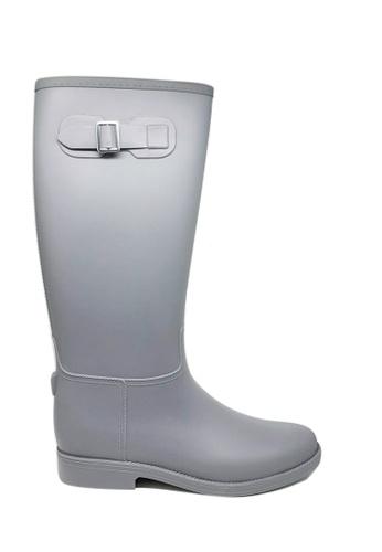 Twenty Eight Shoes grey Knee-High Rain Boots MM21B 797E8SH978EF7CGS_1