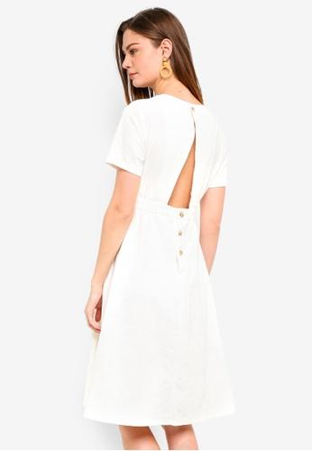 Haute Kelly white Uk Button Up Dress A0FFDAA76D8655GS_1