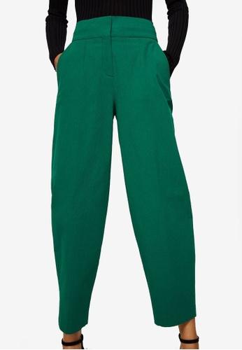 Mango green Cotton Crop Trousers DB31CAA8A4C3A7GS_1