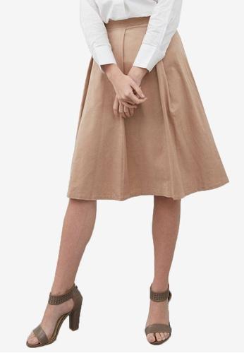 Berrybenka brown Elene Skirt 8F26EAA47F6209GS_1