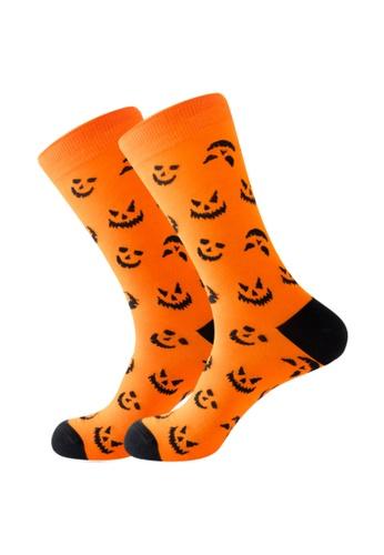Kings Collection orange Smiley Pumpkin Pattern Cozy Socks (EU38-EU45) HS202345 FED75AA47B13D3GS_1