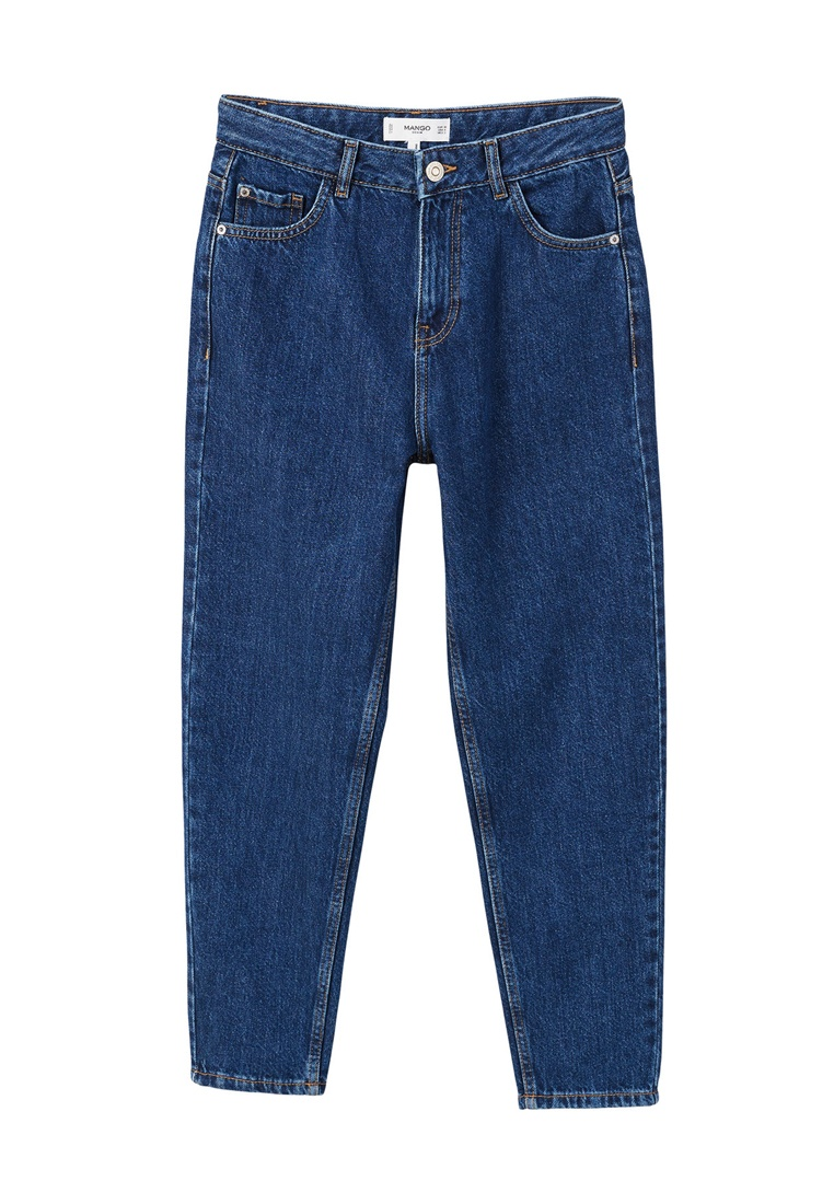 Mom Open Mango Jeans Blue Relaxed SCxOxq