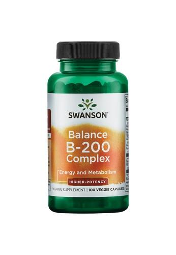 Pure & Well SWANSON BALANCE B-200 COMPLEX 100 VEG CAPS F0E05ES2F0F34CGS_1