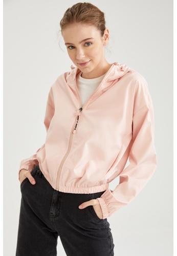 DeFacto pink Hooded Raincoat 0C07CAACC6B445GS_1