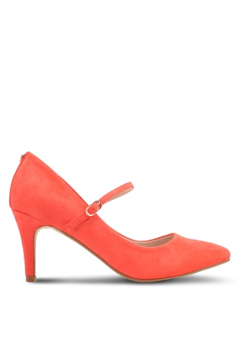 Velvet orange Heel with Strap 081DDSHF820F7FGS_1