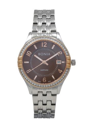 Bonia silver Bonia Jam Tangan Wanita - Silver Brown - Stainless Steel - BNB10339-2345S 8AD90AC2A151ABGS_1