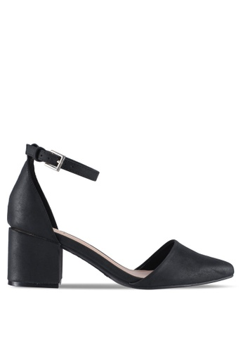 Call It Spring 黑色 Drizzy Ankle Strap Heels 53732SH111C01EGS_1