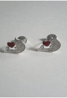 Stud Earrings, Dolphin Design