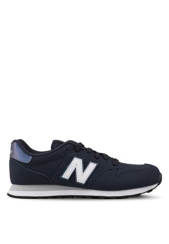 New Balance 白色 and 海軍藍色 500 Lifestyle 運動鞋 37DA4SH75D8E17GS_1