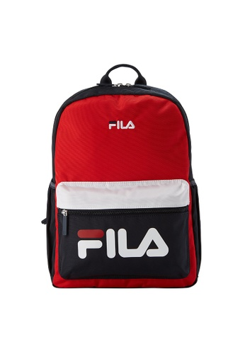 FILA red FILA KIDS FILA Logo Colour Blocks Backpacks E4DABKC51C9DE6GS_1