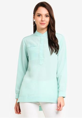 Qasaya green Modest Blouse 9D03DAAB38D273GS_1
