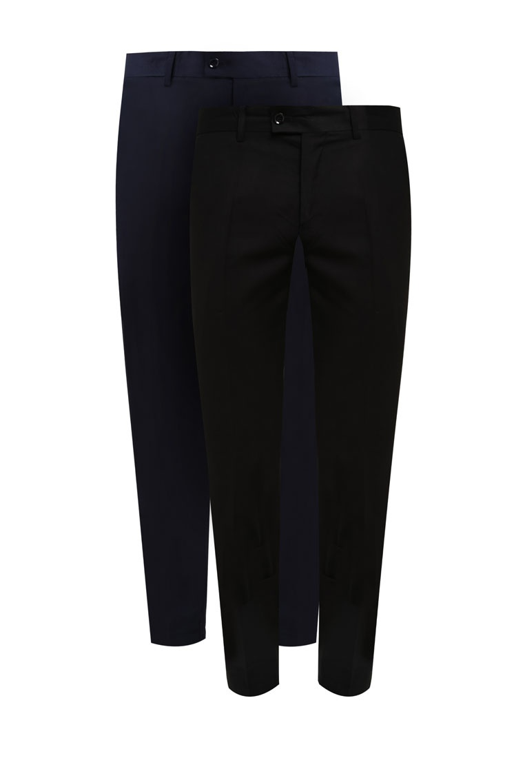 Formal Fit ZALORA 2 Trousers Slim Black Navy Pack tqwUf8