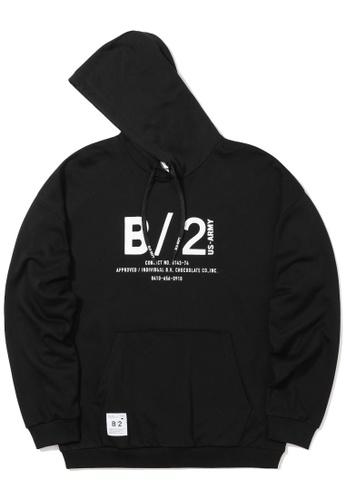 :CHOCOOLATE black Army logo hoodie 37DCDAAA9D0D1BGS_1