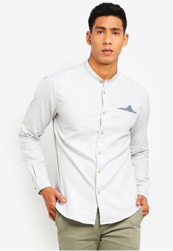 ESPRIT grey Woven Long Sleeve Shirt E5D77AA6791662GS_1