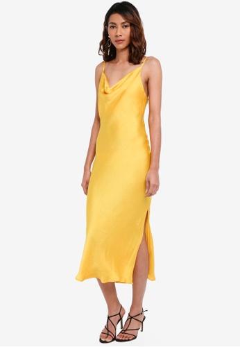 TOPSHOP yellow Cowl Neck Slip Dress 1F1CCAA65296BBGS_1