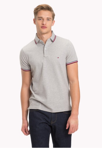 Tommy Hilfiger grey TOMMY TIPPED SLIM POLO 77FABAA8756A37GS_1