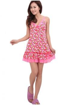 Sexy Babydoll Womens Polka Dots Spaghetti Strap Lovely Underwear Sleepwear