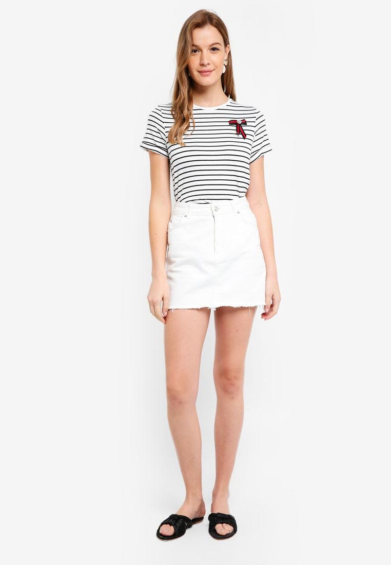 T Ivory Bow Stripe Dorothy Shirt Perkins Ivory IUWwqUH0Z